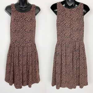 DELETTA Flared Neovision Leopard Skater Dress